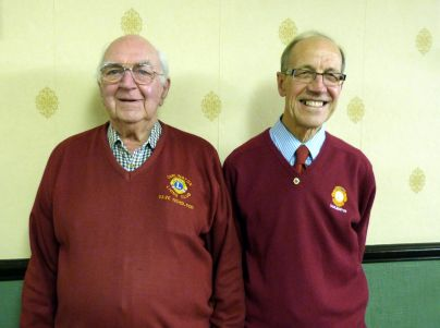 Dave Nicholson left and Ian Barnes - 80 years service